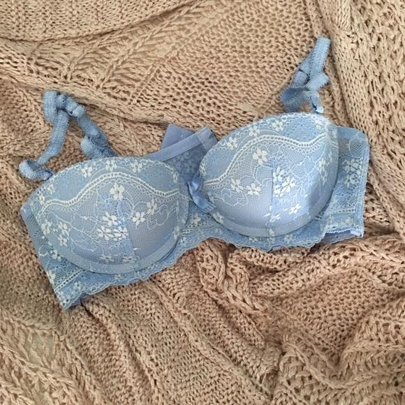 37e9ee545777 sophie b Intimates & Sleepwear | 34a Baby Blue Pushup Bra | Poshmark